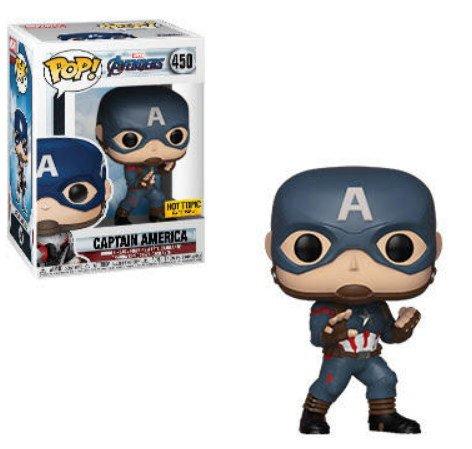 Captain America, Hot Topic exclusive Marvel Avengers Endgame - Funko Pop series.