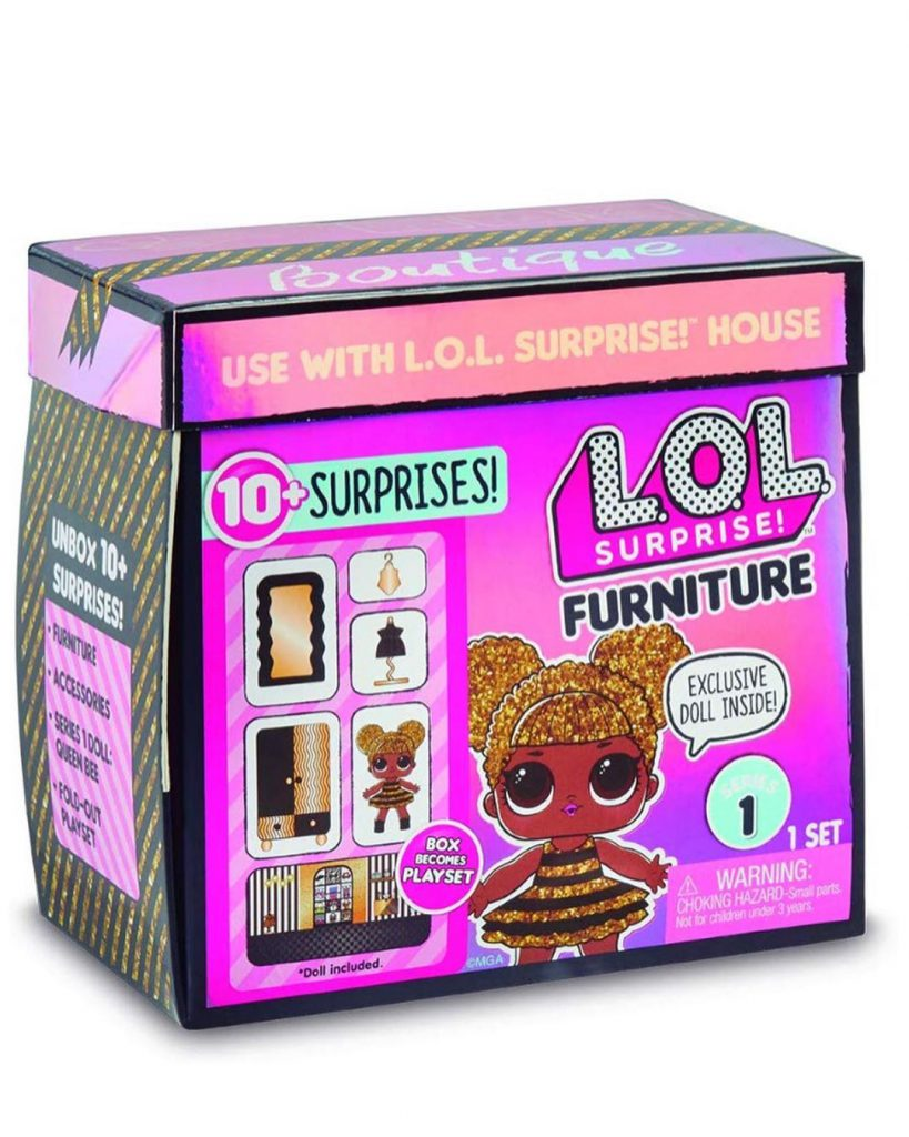 L.O.L. Surprise! Furniture Queen Bee Closet set with 10 Surprises Where to Buy?