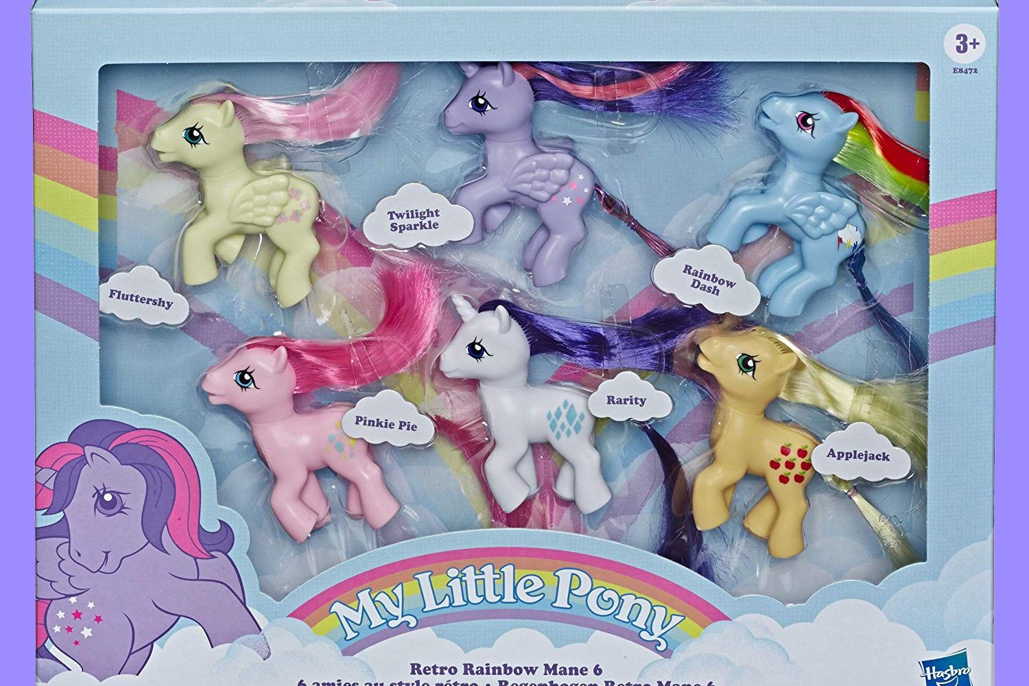 My Little Pony Retro Rainbow Mane 6 -- 80s-Inspired Collectable Figures with Retro Styling where to Buy