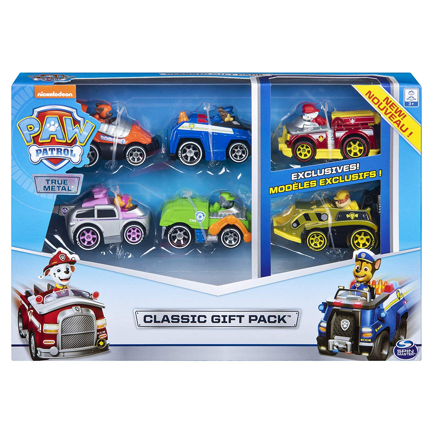 Paw Patrol, True Metal Classic Gift Pack of 6 Collectible DIE-CAST Vehicles