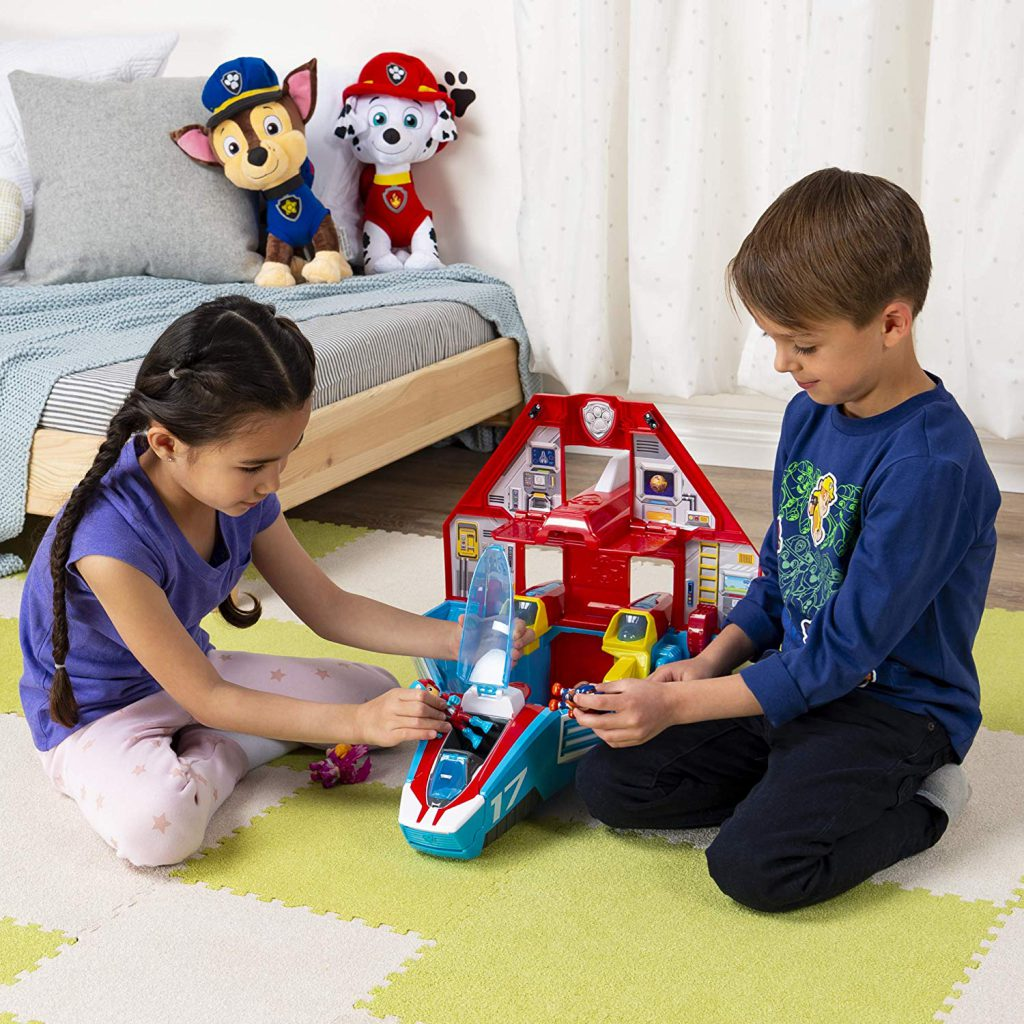 Released date Paw Patrol Mighty Pups Jet Command Center Super Paws, 2-in-1 Transforming