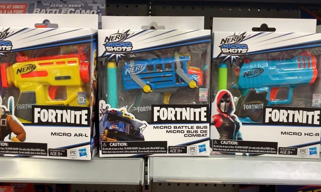 Price NERF Fortnite Micro Battle Bus Microshots Blaster