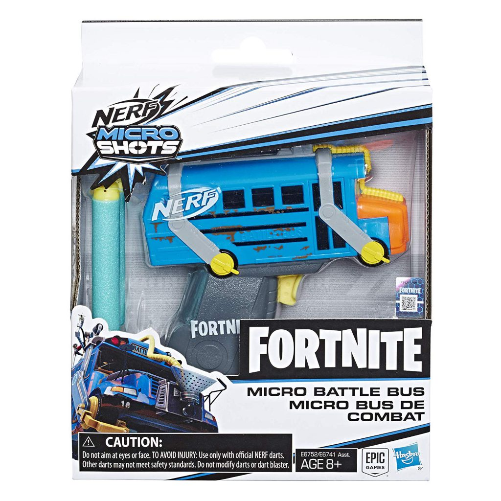 Buy NERF Fortnite Micro Battle Bus Blaster