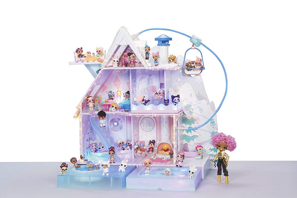 Buy on amazon L.O.L. Surprise! Winter Disco Chalet Doll House with 95+ Surprises & Exclusive Family
