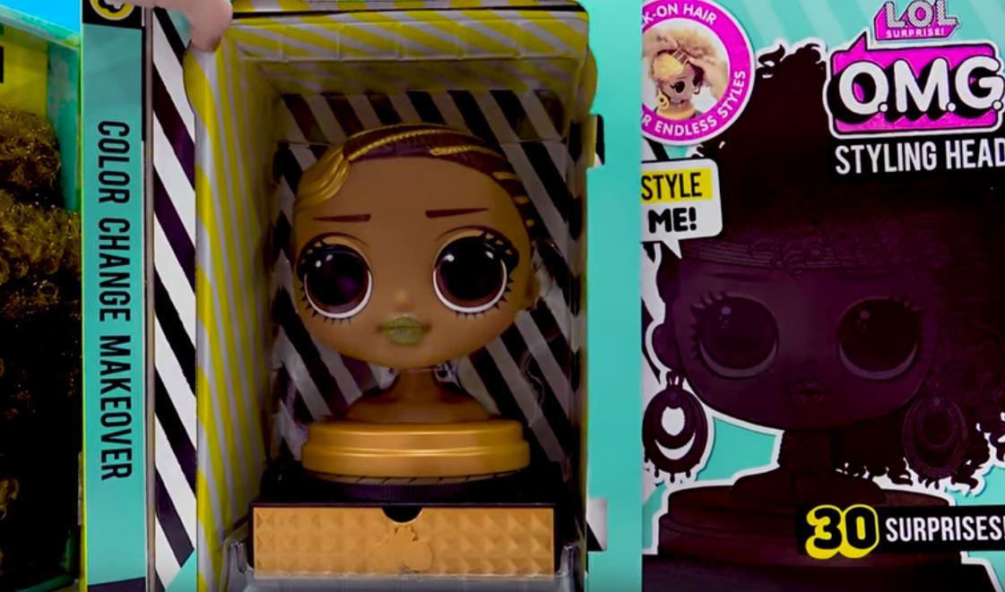LOL Surprise Doll OMG Styling Head Styles Makeup Beauty ROYAL BEE