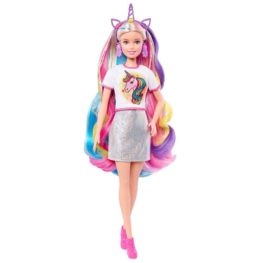 2020 Barbie Fantasy Hair Doll. Unicorn Style. Barbie Price