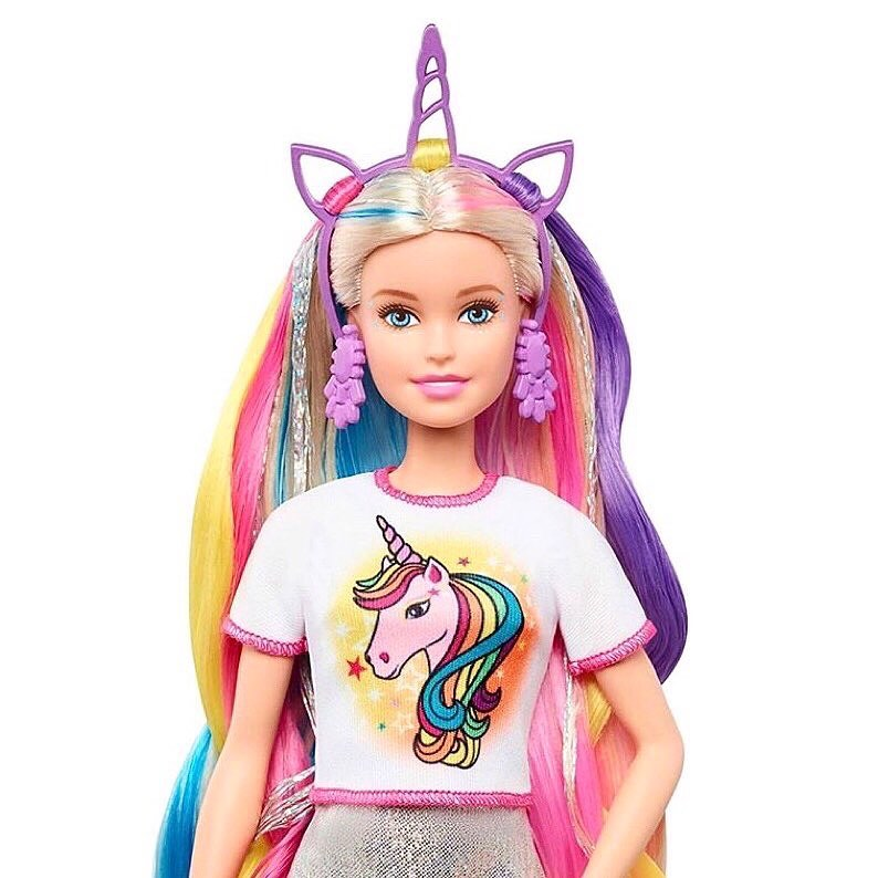 2020 Barbie Fantasy Hair Unicorn Doll