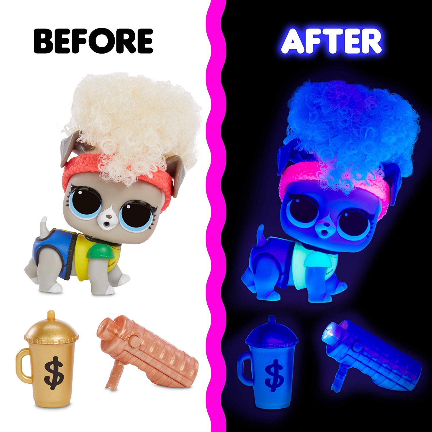 L.O.L. Surprise! Lights Pets with Real Hair & 9 Surprises Including Black Light Surprises pre-order now