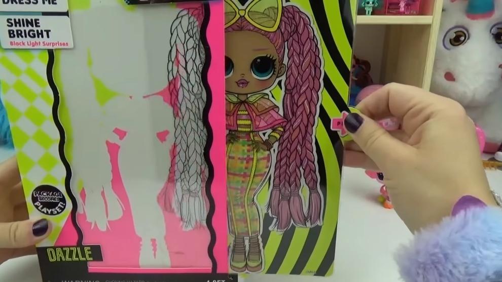 LOL Surprise O.M.G. Lights UV Black Light Surprise Doll DAZZLE Glowing Surprises 2