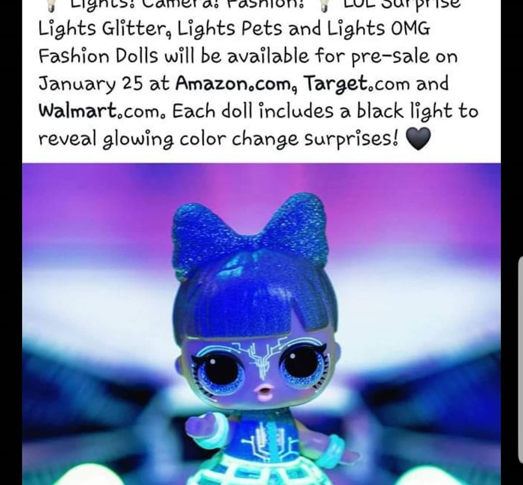 Lights OMG Fashion Dolls will be available for pre-sale on January 25 at Amazon, Targetand Walmart