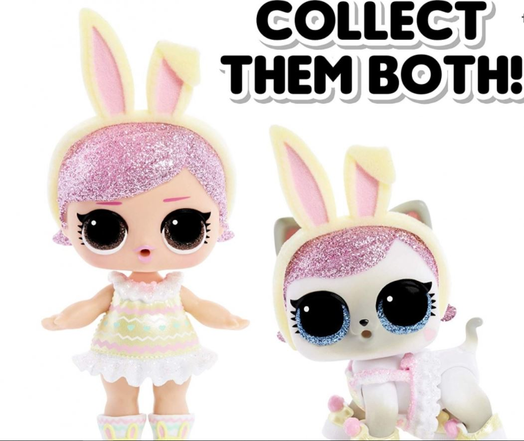 Big Sister and Hops Kit-Tea Pet Easter LOL Surprise SPRING BLING Set of 2