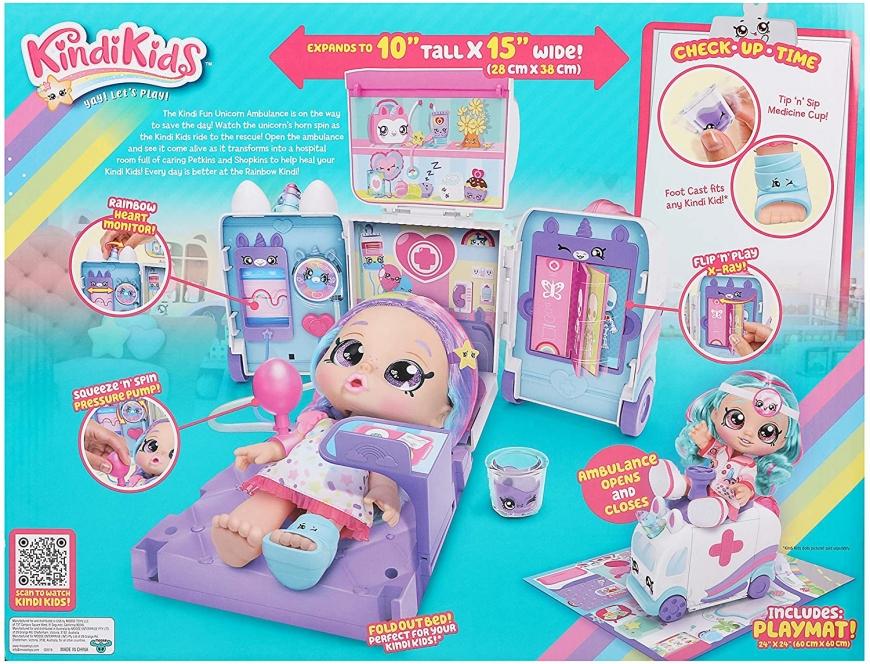 Kindi Kids Ambulance Playset - Kindi Fun Unicorn Ambulance release date