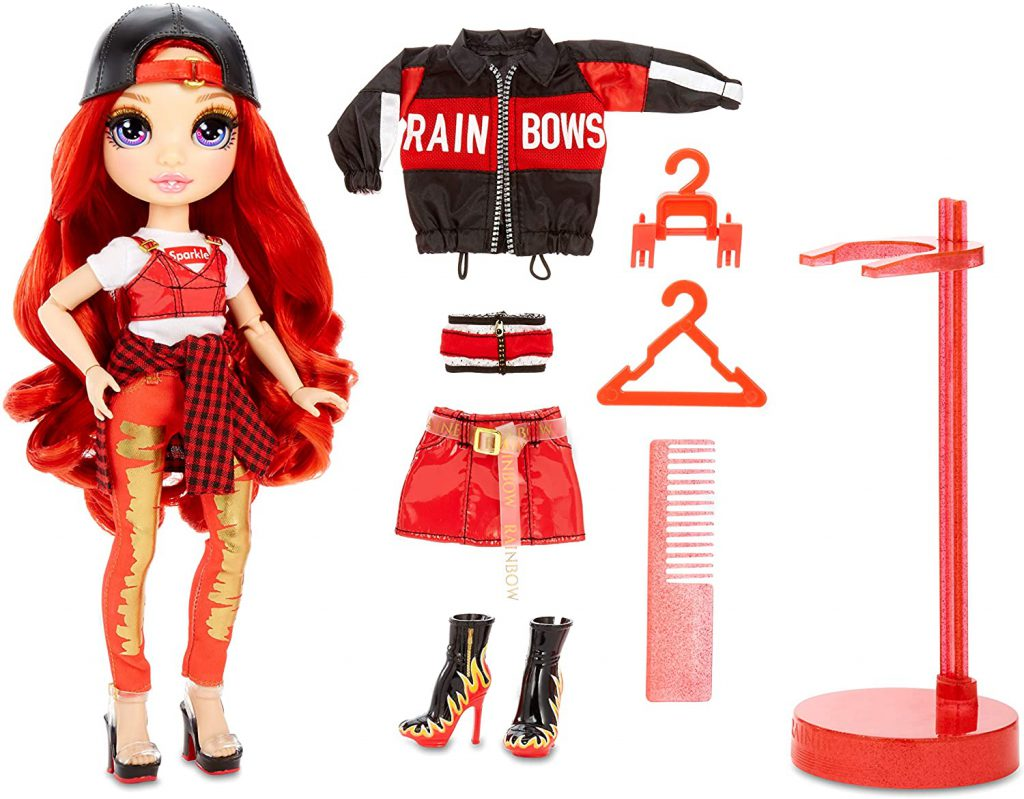 Rainbow High Ruby Anderson – Red Fashion Doll with 2 Outfits