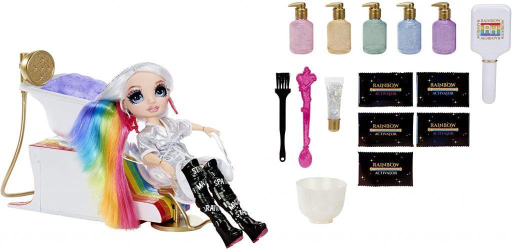 Rainbow High Salon Playset with Rainbow of DIY Washable Hair Color Foam Are out