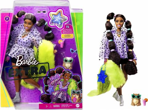 New Barbie Extra Doll - Long Pigtails with Rainbow Hair Ties - Where to buy? What is the price? Realise date