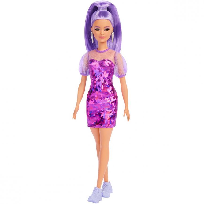 Barbie Fashionista Doll №178 with Purple Monochrome Dress