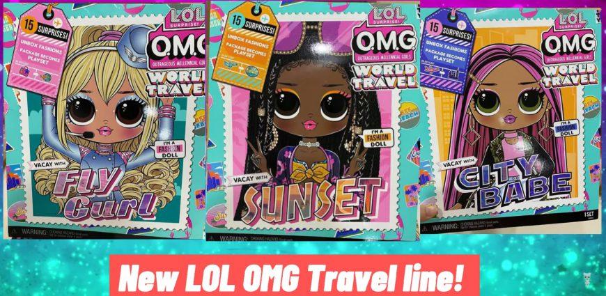 New LOL Surprise OMG Travel Line. 15 surprises. 3 collectible dolls!